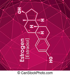 Formula of hormone estrogen. - Chemical molecular formula ...