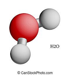 Formula of water. H2O. Illustration.