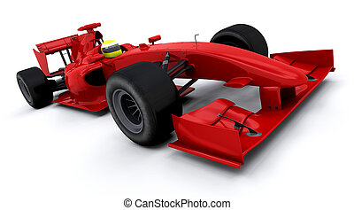 Formula one car - 3d render of a formula one racing car