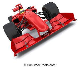 Formula one car - 3d render of a formula one racing car