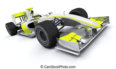 formula one car - 3d render of a formula one car