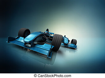formula one cars - abstract composition with formula one...