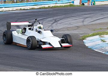 formula one race car - Formula three race car on a speed...