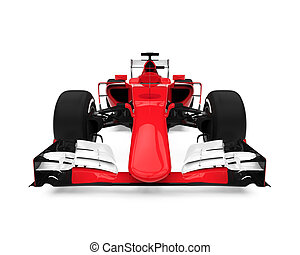 Formula One Race Car isolated on white background. 3D render