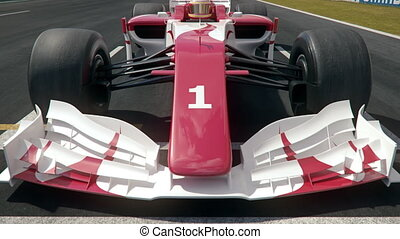 Formula one race car starting from pole position