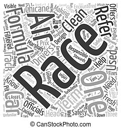 Formula One Racing Terms You Need to Know Word Cloud Concept