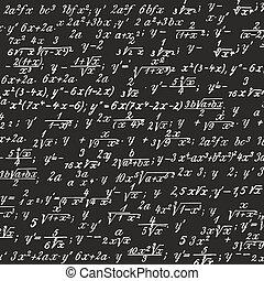formula - picture of formulas written on a blackboard