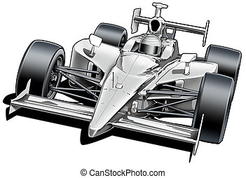 Formula Style Race Car - Black Line and Airbrush ...