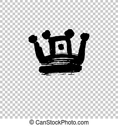 formulaire, coups, couronne, isolé, texture, peinture, fond, blanc, épais