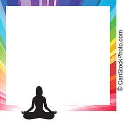 formulaire, femme, annonce, figure, illustration, méditation...