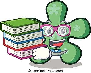 formulaire, gratuite, livre, étudiant, dessin animé, mascotte