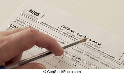 formulaire, irs, santé, 8965, reportage, exemptions