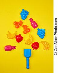 formulaire, jouets, arbre, plastique, enfants, vergé, multi-coloré, noël, dehors