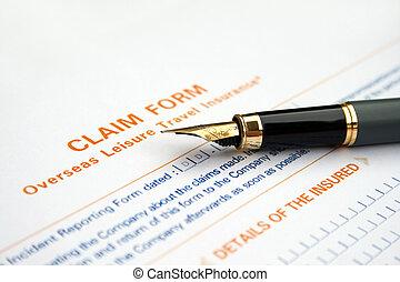 formulaire, réclamation