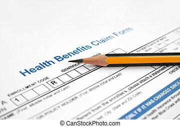formulaire, réclamation, santé