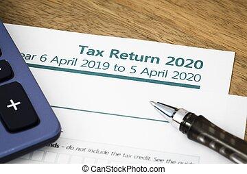 formulaire, royaume-uni, 2020, retour, impôt