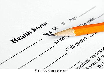 formulaire, santé