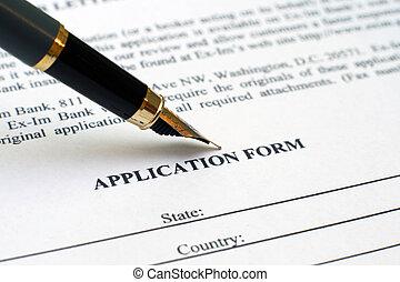 formulario de solicitud