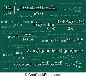 Formulas background - Formulas gackground
