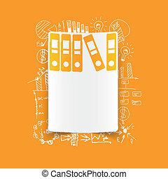 formulas:, cartella, disegno, affari