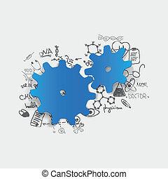 formulas:, monde médical, roue dentée, dessin