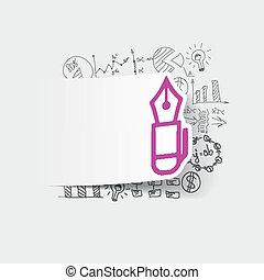 formulas:, stift, zeichnung, geschaeftswelt
