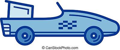 formule, ligne, une, icon., voiture