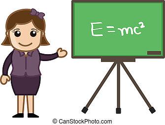 formule, projection, planche, prof