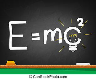 formule, school, black , geschreven, plank