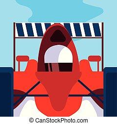 formule, voiture, rouges, conduite, homme 1