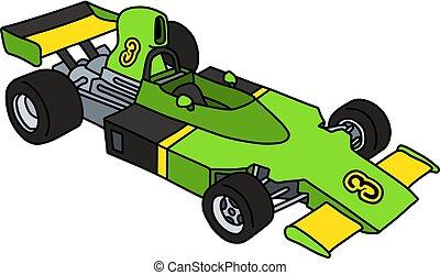 formule, voiture verte