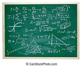 formules, école, education, math, tableau noir