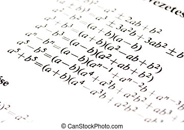 formules, algèbre