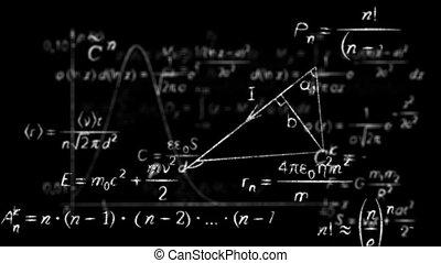 formules, physique, math, boucle