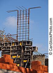 Formwork and steel bars