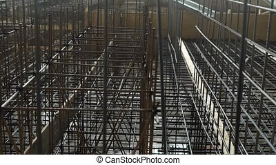 Formwork of metal structures in industrial construction,...