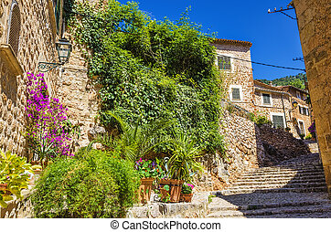 Fornalutx village on Majorca - A view from the Fornalutx...