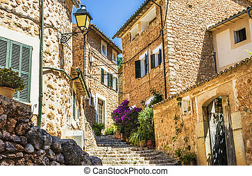 Fornalutx village streets - The streets and buildings in the...
