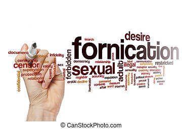 Fornication word cloud concept