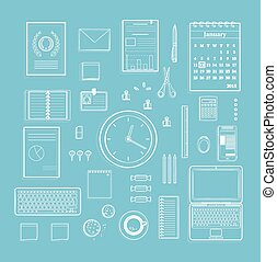 forniture per ufficio, collezione, appartamento, pulito,...
