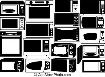 fornos, jogo, microonda