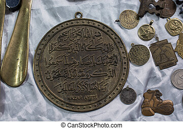 forntida, guld, färg, metall, mynt