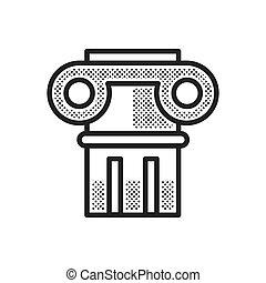 forntida, kolonner, ikon