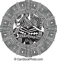 forntida, vektor, pattern., illustration