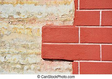 forntida, wall-, hög, upplösning, bakgrund