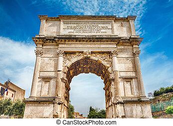 foro, titus, iconic, romano, roma, arco