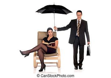 forretningsmand, agent forsikring