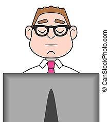forretningsmand, computer