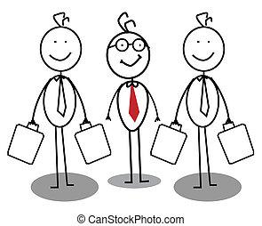 forretningsmand, gruppe