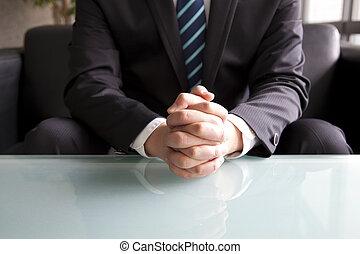 forretningsmand, holde ræk